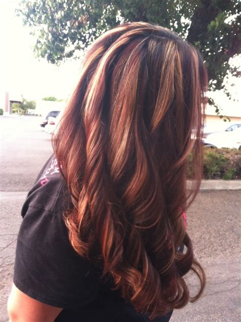 platinum blonde hair with mocha platinum blonde highlights with mocha and violet red hair