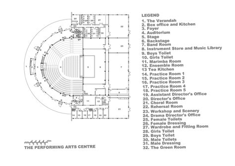 theatre floor plans harare international school designshare projects