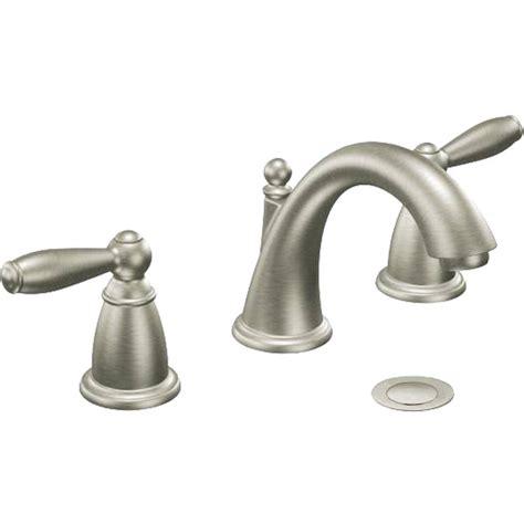 moen kitchen faucets brushed nickel moen t6220srn brushed nickel boardwalk two handle lavatory