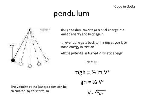pendulum swing equation potential energy and kinetic energy