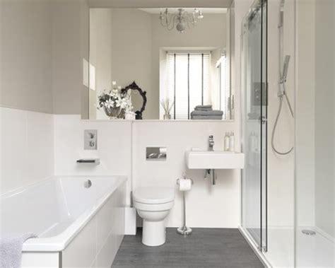 white  grey bathroom houzz