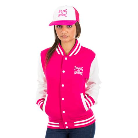 Basic Varsity Pink X White pink jackets jackets review