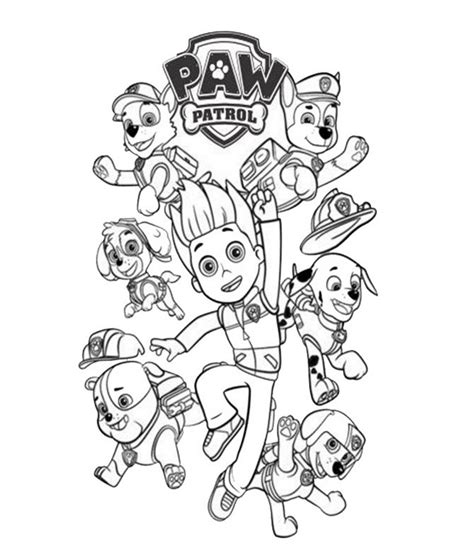coloring pages of the paw patrol paw patrol coloring pages coloring home