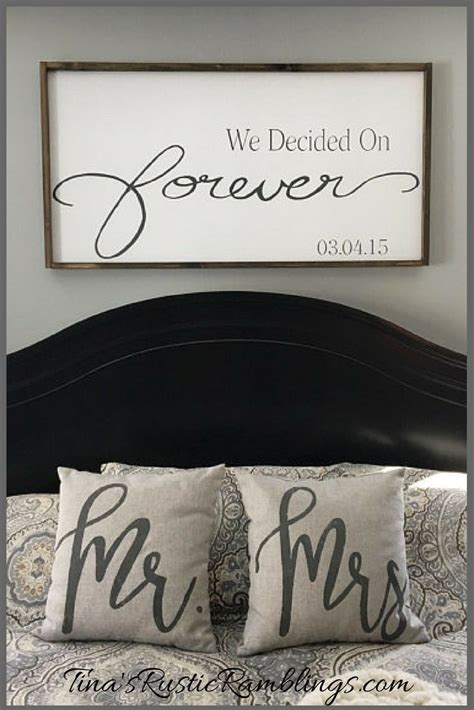 Bedroom Signs by Large Wooden Sign We Decided On Forever Master Bedroom
