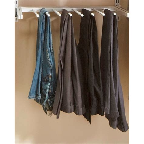Pant Rack For Closet by Clever Closet 600 X 470mm White Rack Bunnings