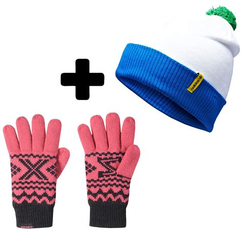 Glove Special Pink adidas zx gloves hat special offer pink green white winter warm bobble pom mens ebay