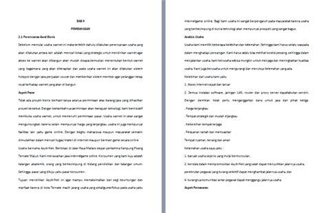 format makalah sederhana word contoh makalah perencanaan bisnis format microsoft word