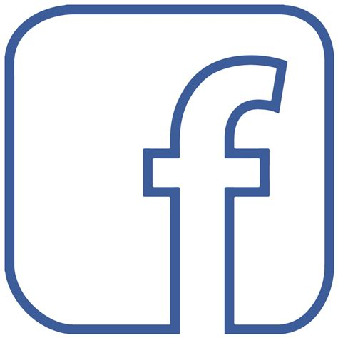 eps format transparent facebook f icon logo outline transparent vector free
