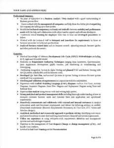 Business Analyst Report Template 8 Business Analyst Resume Examplesreport Template