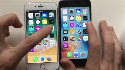iphone 6 ios 9 vs ios 11 speed test