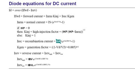 diode equation spice white led model testing for forward voltage and current