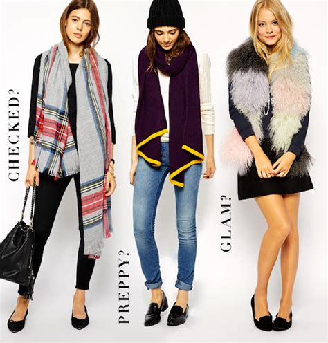 Asos Faux Fur Scarf In Black what s your autumn winter 2014 asos scarf style coco s