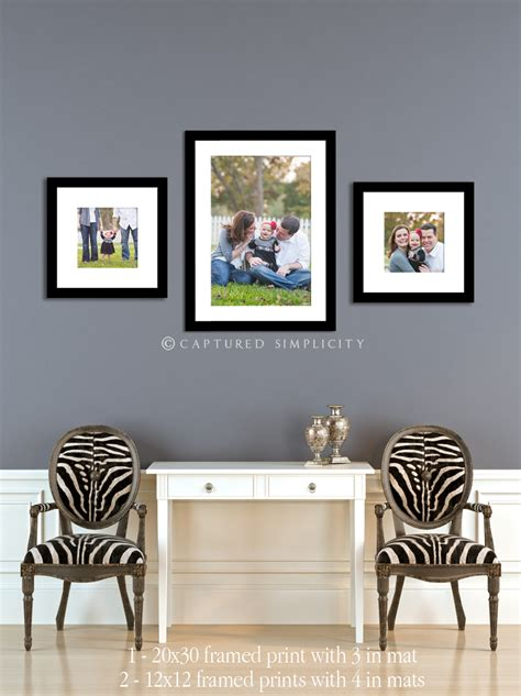 modern photo display wall display for family session frames entry living