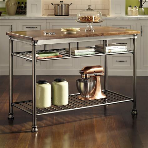shop kitchen islands shop home styles gray industrial prep tables at lowes