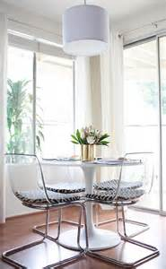 clear chairs that minimal visual weight and a