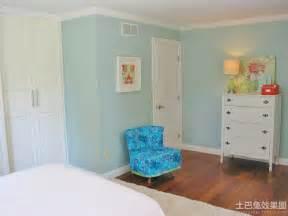Blue Paint Colors For Bedrooms 房间油漆颜色效果图