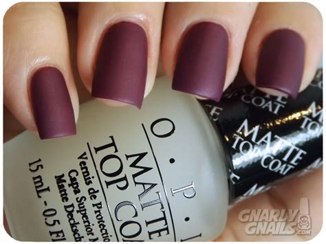 Opi Matte Top Coat opi top this set review gnarly gnails
