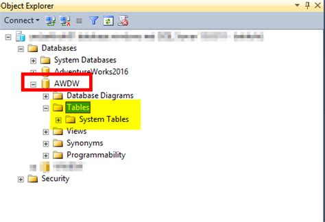 query azure sql data warehouse in ssms and ssdt