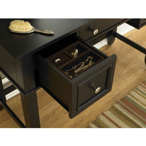 black vanity table with mirror and bench home styles bedford black vanity table mirror bench