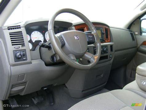 Khaki Beige Interior 2006 Dodge Ram 1500 SLT Quad Cab 4x4