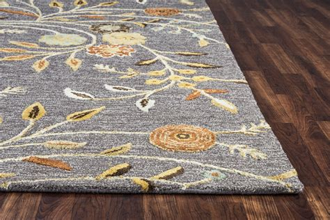 10 runner rugs harbor vine bloom wool runner rug in grey multi color flowers 2 6 quot x 8