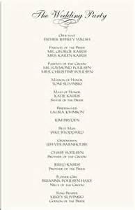 wedding ceremony program wording template wedding ceremony programs wording exles wedding