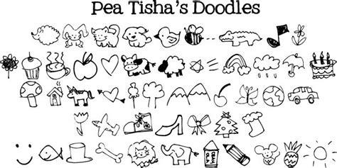 food doodle fonts doodles on