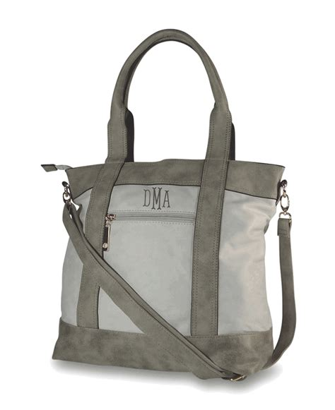 Faux Leather Canvas Tote by Monogram Tote Handbags Faux Leather