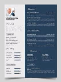 15 free modern cv resume templates psd