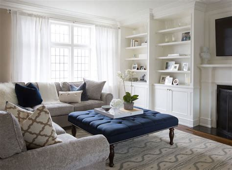 living room with ottoman navy tufted ottoman transitional living room flax design