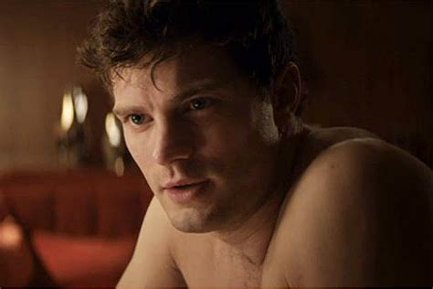 50 shades of gray chest hair scene a shirtless jamie dornan tells dakota johnson he s anti