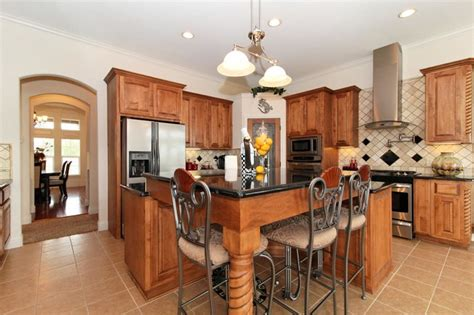 Kitchen Island with Bar Seating   Traditional   Kitchen