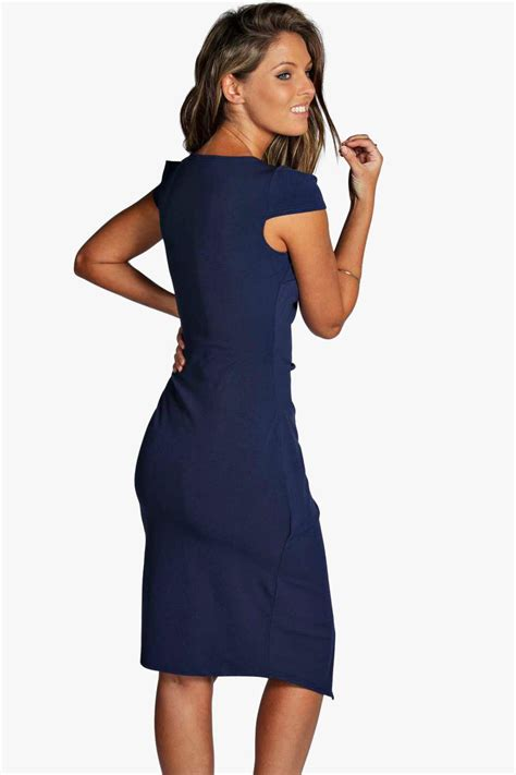 Sleeve Midi Dress boohoo womens meg cap sleeve wrap midi dress ebay
