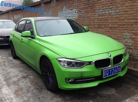 light green bmw bmw 320li is matte light green in china carnewschina com