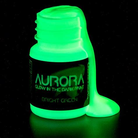 glow in the paint non toxic glow in the paint 0 68 oz 20ml bright green
