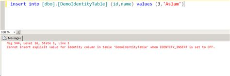 Cannot Insert Value For Identity Column In Table by Cannot Insert Value For Identity Column In Table