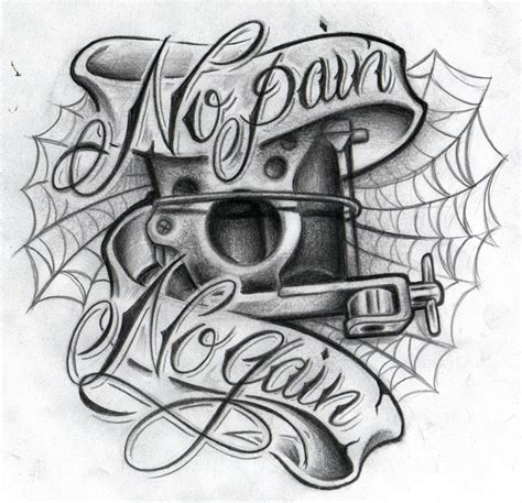 machine gun tattoo designs no no gain ii by willemxsm deviantart on