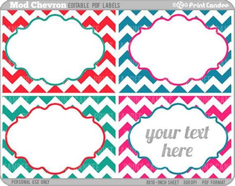 rectangle editable   mod chevron labels  printcandee