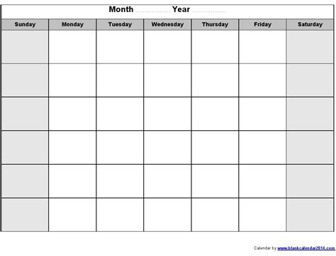 empty calendar template blank calendar print out free calendar 2017 2018