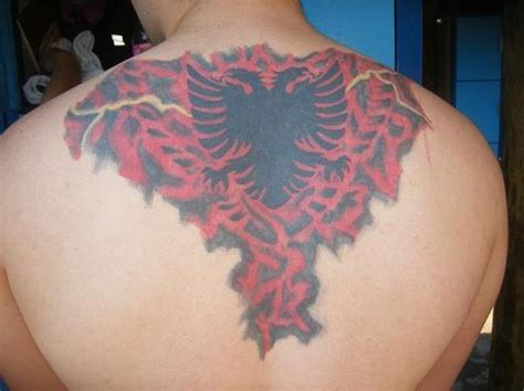 albanian eagle tattoo designs beautiful albanian eagle design on s back