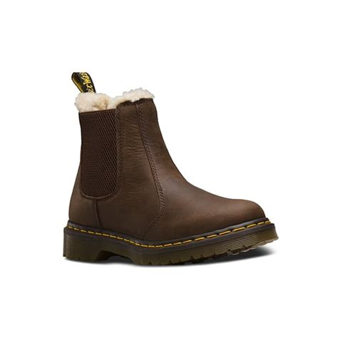 dr martens womens leonore brown chelsea boot 21069201