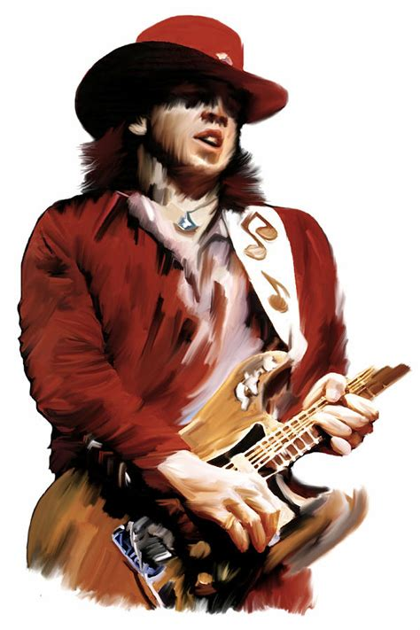 rampage stevie ray vaughan painting  iconic images art gallery david pucciarelli
