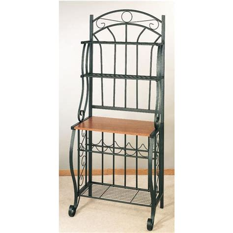 Bakers Racks by Free Shipping On Scroll Bakers Rack Forest