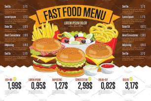 food menu template 30 food drink menu templates design shack