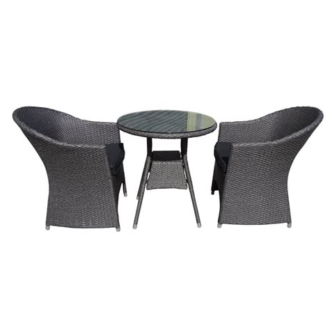 High Bistro Table Set - sloan tub 3 piece bistro setting granite wicker inspired outdoor living