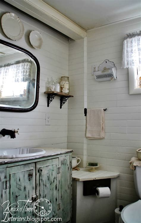 Farmhouse Bathrooms Ideas Farmhouse Bathroom Makeover Again Knick Of Time
