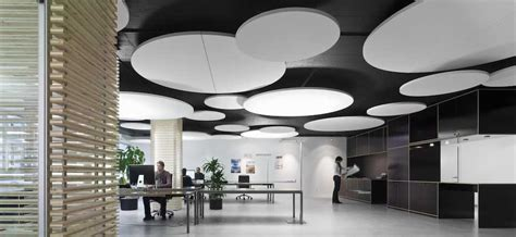 Office Ceiling Panels Ecophon Circle Acoustic Panels Supply And Installation