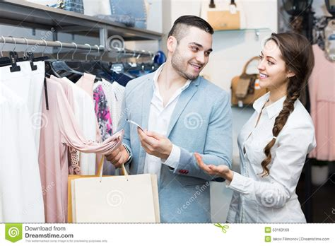 Couples Clothing Store In Clothing Store Stock Photo Image 53163169