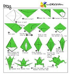 Pre Made Origami - origami jumping frogs for younger children they could be