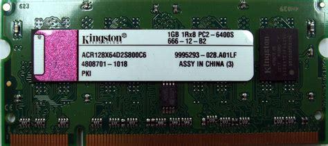Ram Sodimm Ddr2 1gb acr128x64d2s800c6 kingston 1gb pc2 6400s ddr2 ram sodimm memory ebay